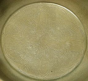 Five Dynasties Yue Bowl With Butterfly Motive