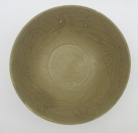Song Celadon Bowl With Flower Decorations (2)
