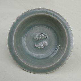 Yuan Lonquan Celadon Twin Fish Dish