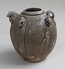 Tang Dynasty Yue Ewer With Four Lugs Decorations