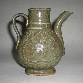 A Rare Longquan Celadon Ewer