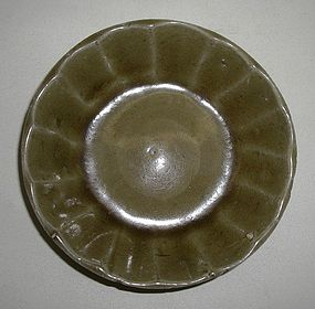 Chinese Longquan Celadon Fluted Shape Washer (3)