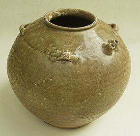 Yue Ware Spouted Jar, Tang Dynasty