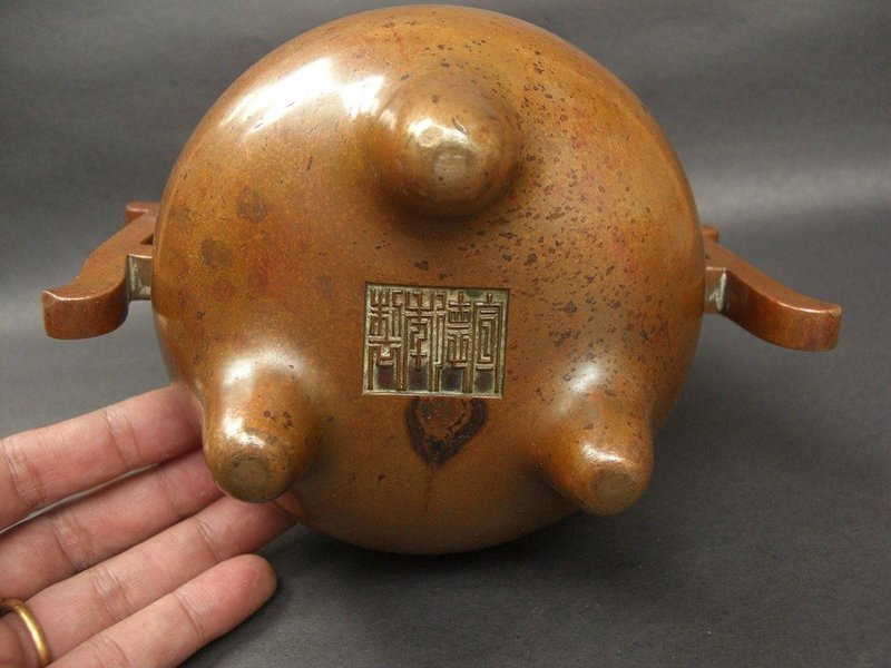 Chinese Bronze Censer Xuande mark, Qing Dynasty