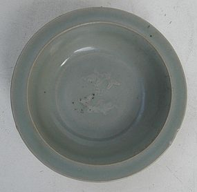Song Longquan Celadon Small Dish,Twin Fish Motive 11,2