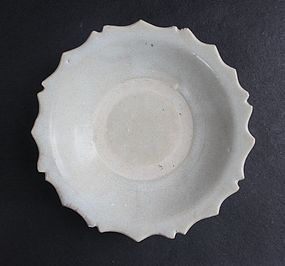Song Dynassty White Glazed Soucer Dish
