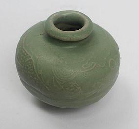 Yuan Dynasty Lonquan Celadon Dragon Jarlet