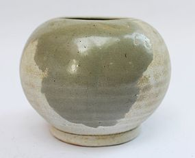 Five Dynasties Yue Yao Small Jar, 10th century