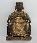 Chinese Wooden Buddha, 19th Century