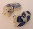 Two Chinese Figure of Dog Dolls From Tek Sing Cargo