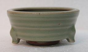 Longquan Celadon Small Tripod Censer, Yuan Dynasty