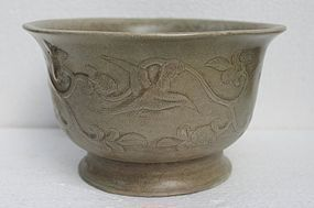 A Rare Example Yueyao Mise Large Bowl