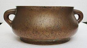 Chinese 18th Century Bronze Censer, By Wu Bangzuo