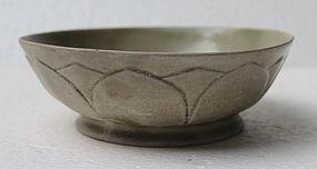 Five Dynasties Yue Yao Lotus Bowl
