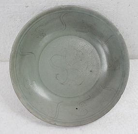 Northern Song Celadon Dish With Flower Motive