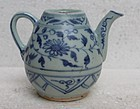 Yuan Dynasty Blue and White Ewer