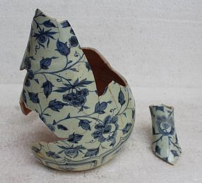 A Shard of  Yuan Blue and White Yuhuchun Vase