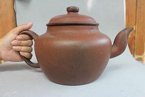 Chinese 19th Century Large Yixing Zisha Teapot