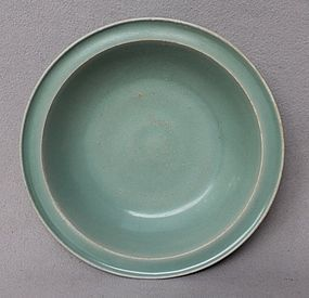 Nice Song Dynasty Blue-Green Longquan Celadon Dish. 21,2 cm