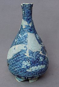 Sample Yuan Blue and White Yuhuchun Vase