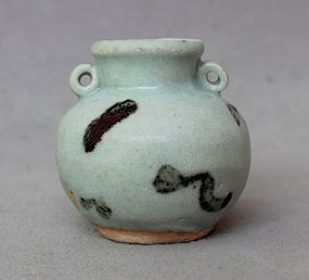 Yuan Dynasty Iron Spotted Jar