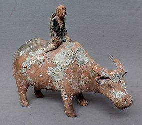 Chinese Qing Dynasty Buffalo Herders Pottery
