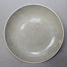 Chinese Ge - Type Dish, Qing Dynasty