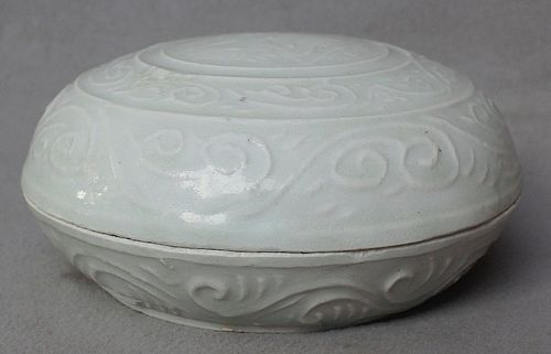 Chinese Song Dynasty White Glazed Covered Box