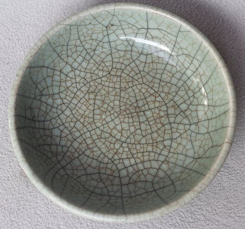 Chinese Qing dynasty Ge Type Crackled Bowl, 12,3 cm
