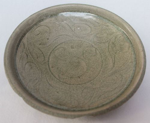 Chinese Song Dynasty Incised Celadon Dish