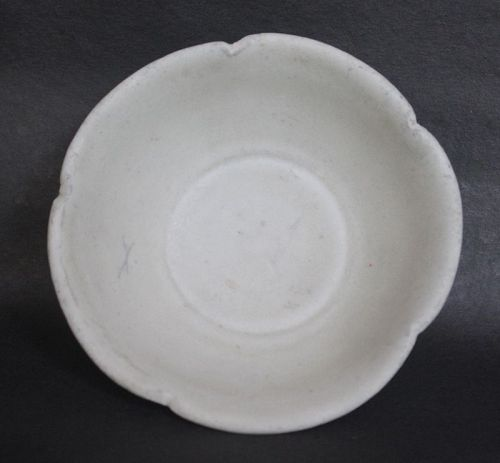 Chinese Tang Dynasty Xing Yao Flower Shape Bowl