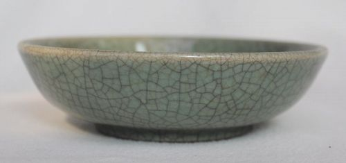 Chinese Qing Dynasty GE Type Saucer Dish