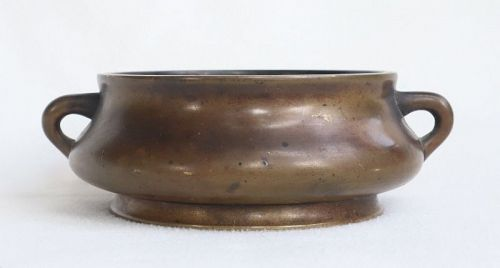 Chinese Small Bronze Censer , Xuande Mark