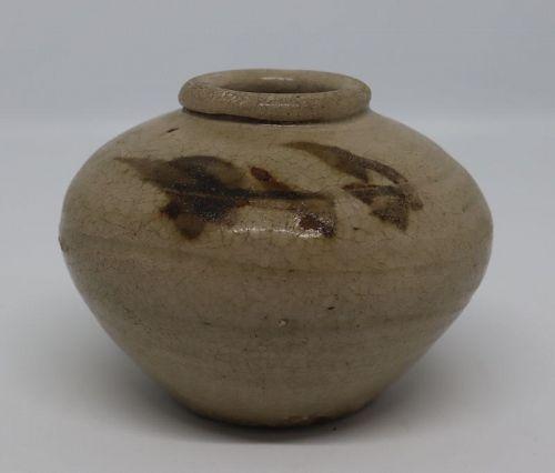 Vietnamese Small Jar, 15th - 16th Century