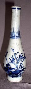 A blue and white Small Bottle Vase