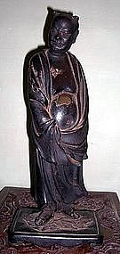 Old Chinese Bronze Figure of A LUOHAN,19th century