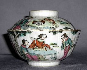 A fine Bowl and Cover mark and period of Tongzhi
