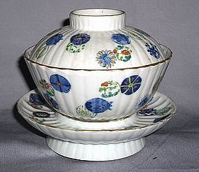 A Qing Dynasty Doucai Bowl and Cover