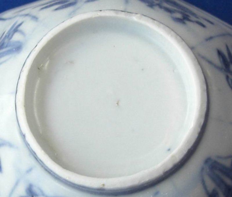 A Blue and White Octagonal Small Bowl,Tianqi period
