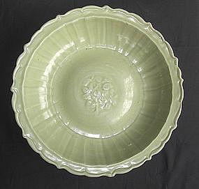 A Fine Yuan Longquan Celadon Large Dish