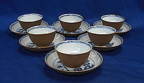 A Set of Six Nanking Cargo Cup & Saucer
