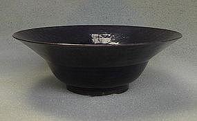 Purple glaze bowl.Qing period