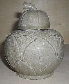 Rare Northern Song Yue Yao Lotus Shape globular Jar