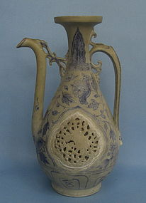 A Rare Vietnamese Blue and white Ewer