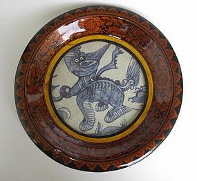 A Shard of Swatow Large Dish With Kilin Motive