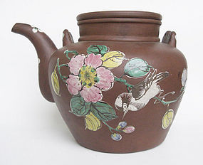 A Large Chinese Yixing Teapot