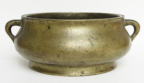18 Century Bronze Censer with Xuande mark