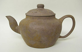 A Huge Tek Sing Purple Clay Yixing Tea Pot