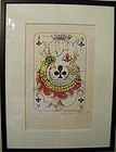 Salvador Dali Lithograph, Ace of Clubs, Limited Edition