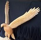 Wood Carved Eagle, Sulton Rogers Folk Art Carving